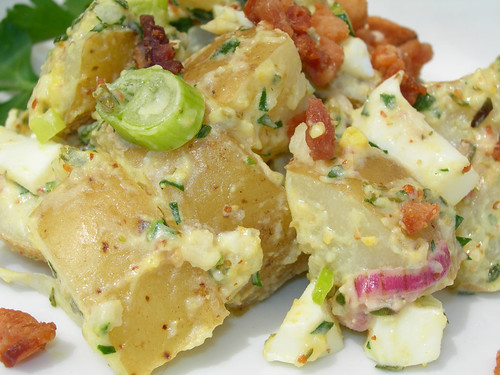 Green Garlic and Yukon Gold Potato Salad