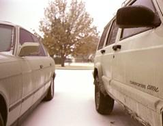 We're a straight-six family (zn.miller) Tags: film analog 35mm jeep bmw 2009 e34 525i 5series xj m20 5speed c41 unicolor homedev jeepxj bronzitbeige