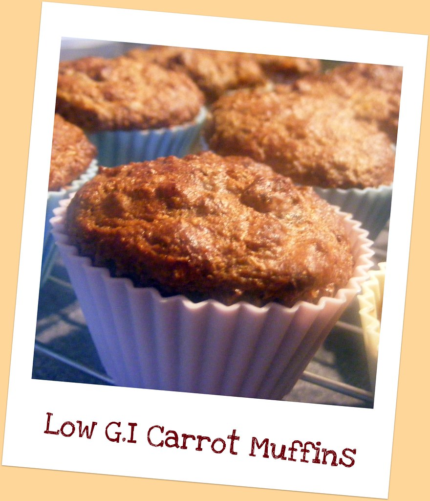 Low G.I. Carrot Muffins