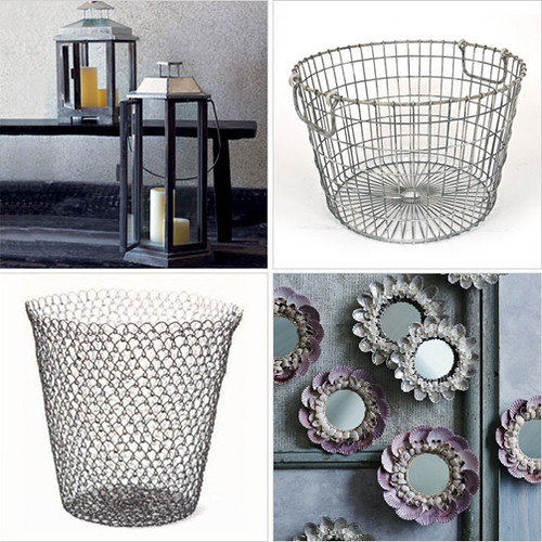 shoestring home: wirey baskets & accessories