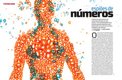 Espies de nmeros (Gabriel Gianordoli) Tags: illustration magazine design numbers spy editorial numerati