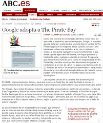 Metedn de Pata en el ABC (Kialaya) Tags: google pirate abc journalism periodismo mistakes piratebay carmenvillarmir