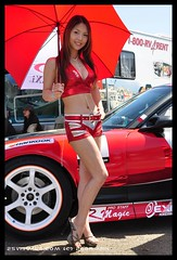 Red Japanese Race Queen (W&HM) Tags: japanese longbeach racequeen formuladrift hotpromotionalmodels 25visualscom