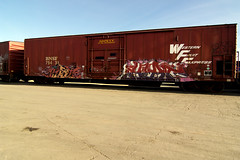 Western Fruit Express (TRUE 2 DEATH) Tags: railroad train graffiti graf rusty trains bn railcar rusted heat weathered boxcar railways railfan freight bnsf sever reefer tci pist freighttrain rollingstock wfe burlingtonnorthern westernfruitexpress benching freighttraingraffiti bnfe