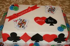 Poker Themed cake (irresistibledesserts) Tags: cake chips poker jackandjill cardsuits