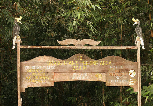 Trail entrance to Semenggoh