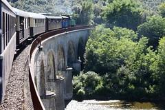 Train à Vapeur des Cévennes circule d'Anduze à Saint Jean du Gard (Cévennes)
