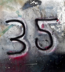 Number 35 (World of Good) Tags: street uk england urban london writing word photography graffiti design photo words flickr image britain letters content images spray number photographs numbers photograph londres walls lettering language 35 figures londra patina eastlondon lontoo e2  londyn worldofgood rondon   cremerstreet hoxtons  londona photographof  timrich lesleykaton writingimages goodwritingimages rndn londhno lndn