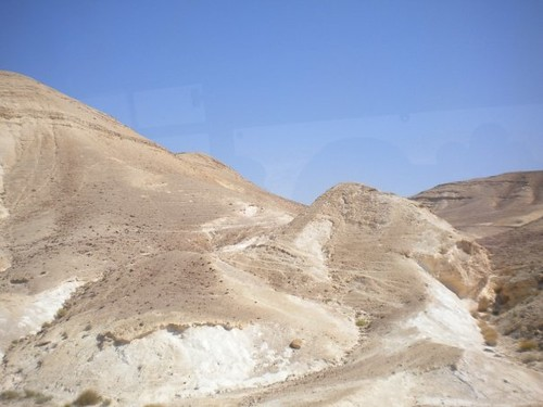 A first glimpse of the Negev Desert.