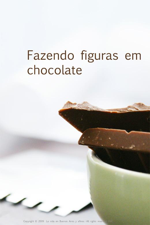 Fazendo figuras de chocolate