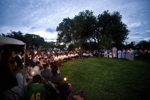 Vigil at Alvarado Park