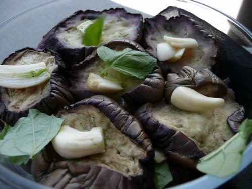 melanzane con aglio e menta