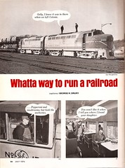 Trains Magazine, July 1975 (mod as hell) Tags: 1975 delawarehudson trainsmagazine colonieyard