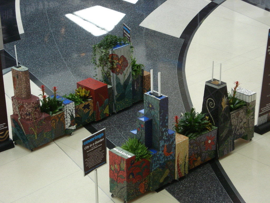 Chicago Skyline Planter for Coverings expo