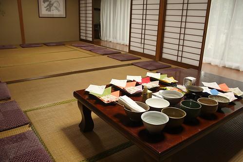 葵ハープ教室コンサート お茶席準備完了