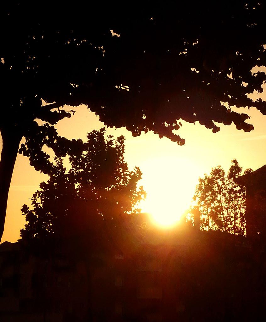 Sunset from parque de Oriente
