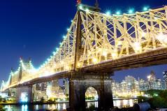 happy 100th! (mudpig) Tags: nyc newyorkcity longexposure ny night geotagged queens eastriver lic queensborobridge rooseveltisland longislandcity 59thstreetbridge mudpig stevekelley
