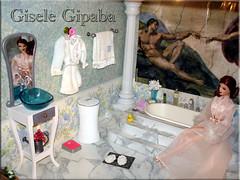 Barbie bathroom (Gipaba) Tags: fashion doll barbie rement fr royalty diorama pivotal fashionfever playscale gipaba bathroombarbie