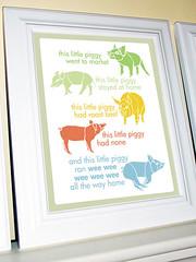 AniNursery_ThisLittlePig_01 (gracehesterdesigns) Tags: piggy babyroom nurseryrhyme childsroom 8x10print 11x14print etsycolumbus