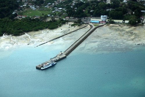 aerial of Mkoani port