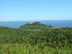 The town of Perc seen from Mont Sainte-Anne (chibeba) Tags: canada quebec northamerica qc gaspe perce perc gasp gaspepeninsula thegaspsie
