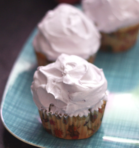 blueberry + mint cupcakes