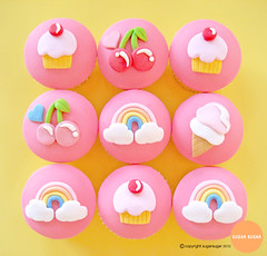 rainbow CUPCAKES SET 2 (jemma@sugarsugar) Tags: birthday pink blue baby cute love cakes yellow cake kids clouds vintage hearts fun happy cupcakes rainbow cherries funny pretty bright princess girly decoration retro gourmet celebration novelty cupcake gift icecream icing treat pinup babyshower frosting funnt fondant cherrie sugarart happycake pinkandyellow icecreamsunday birthdaycupcakes noveltycake cutecupcakes rainbowcupcakes birthdaytheme noveltycupcakes princesscupcakes cuptecupcakes cherriecupcakes