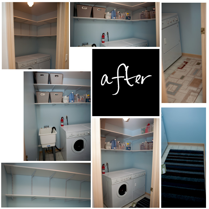 Laundry Room Renovation after
