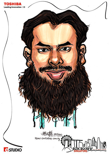 Caricature of  Farook