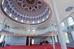 Interior of a Mosque in the Netherlands (Mr. Observer) Tags: roof light color detail netherlands digital sand interior muslim faith pray mosque tiles dome handpainted turkish roermond limburg handpainting nikond3
