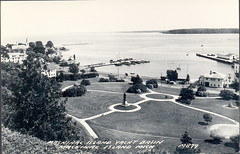 Mackinac Island MI UP Yacht Basin & Ferry Docks RPPC from Old Fort Mackinac LL Cook M-879 Unsent (UpNorth Memories - Donald (Don) Harrison) Tags: heritage history up vintage michigan postcard memories postcards upnorth upperpeninsula upnorthmemories donharrison rppc puremichigan davetinder
