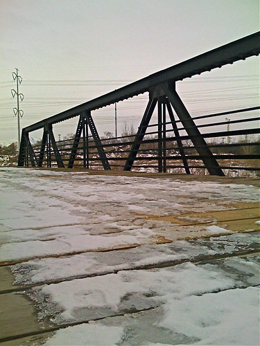 Snow & Ice on a bridge