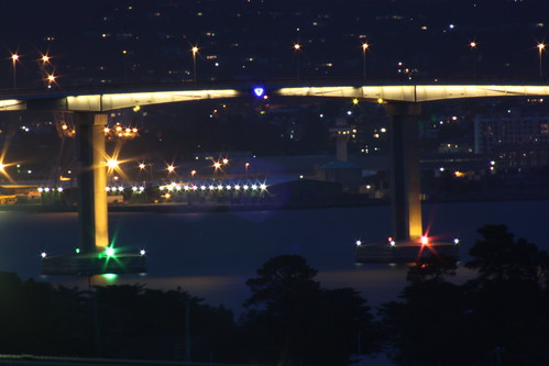 Tasman Bridge by Night