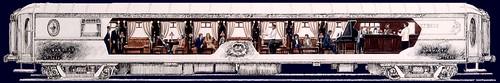 Train Chartering - VSOE Bar car on the Venice-Simplon train - plan