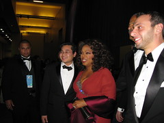 Oprah celebrating at Obama State Ball