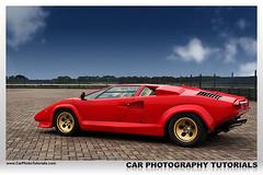 Lamborghini Countach Quattrovalvole (CarPhotoTutorials) Tags: red car canon 350d processing 1785 lamborghini countach tutorials quattrovalvole