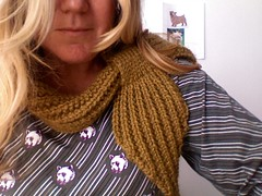 "Anthro-inspired ""mistake rib"" scarflette (hitbyabus) Tags: alpaca knitting anthropologie scarflette"
