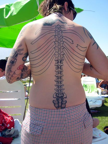Spine anatomy tattoo