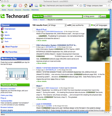Technorati showing COIS20025 posts