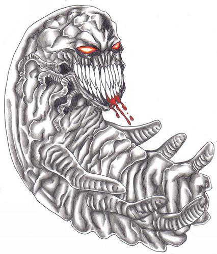 Demonic Tattoo Idea by Wayne Tully
