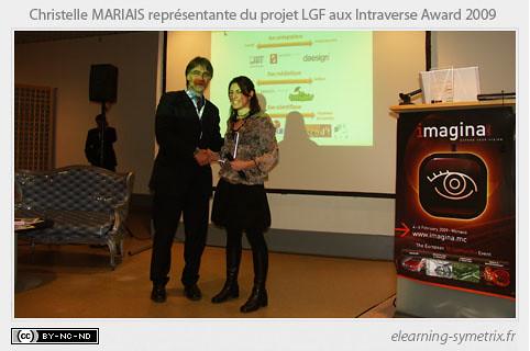 Le LGF recompense aux Intraverse Award 2009.jpg