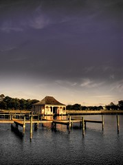 Boathouse (hburrussiii) Tags: park house heritage canon pier boat is nc indigo northcarolina powershot outer boathouse outerbanks hdr banks corolla obx roygbiv s5 currituck 3xp photomatix banx