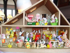 Knock, Knock, Any Bunny Home (raining rita) Tags: bunnies vintage easter miniatures goebel wgermany