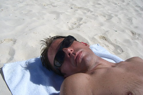 Relaxing at the beach...zzzz
