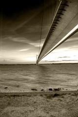 Humber Bridge | HDR | B&W (martyncoup) Tags: bridge river nikon d200 hdr highdynamicrange humberbridge humber riverhumber nikond200 featuredonadidapcom