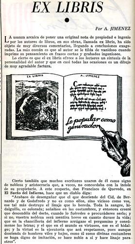 Ex libris. Artículo de A. Jiménez (I)