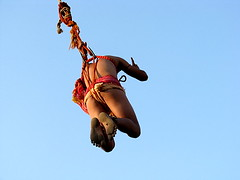(mayukh_phys) Tags: sky india man festival rope swing hanging kolkata mela charak