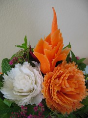 Vegy Bouquet (wtimm9) Tags: vegetablecarving vegetableflower vegetablebouquet thaicarving