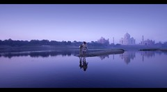 Indian morning (rAmmoRRison) Tags: rammorrison india10mm india tajmahal taj agra incredibleindia wonder 7wondersoftheworld heritage architecture mughal love yamuna wmp