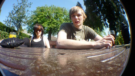 Fish eye on the table